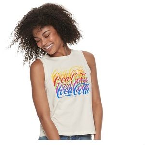 NWT Coca Cola Cream Tank
